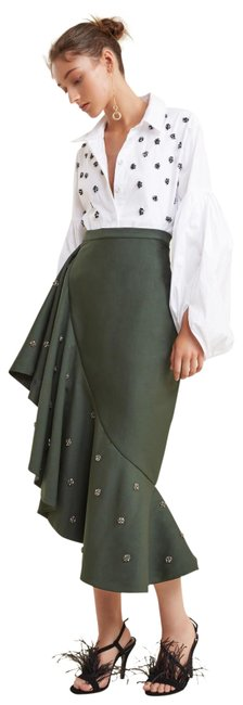 C/meo Collective Anthropologie Tiered C/Meo Skirt Forest Green Image 0