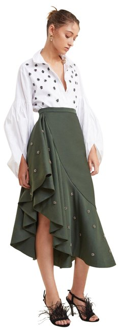 C/meo Collective Anthropologie Tiered C/Meo Skirt Forest Green Image 1