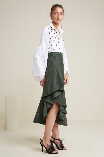 C/meo Collective Anthropologie Tiered C/Meo Skirt Forest Green Image 3