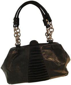 BCBGMAXAZRIA Leather Leather Bags Small Satchel in Black
