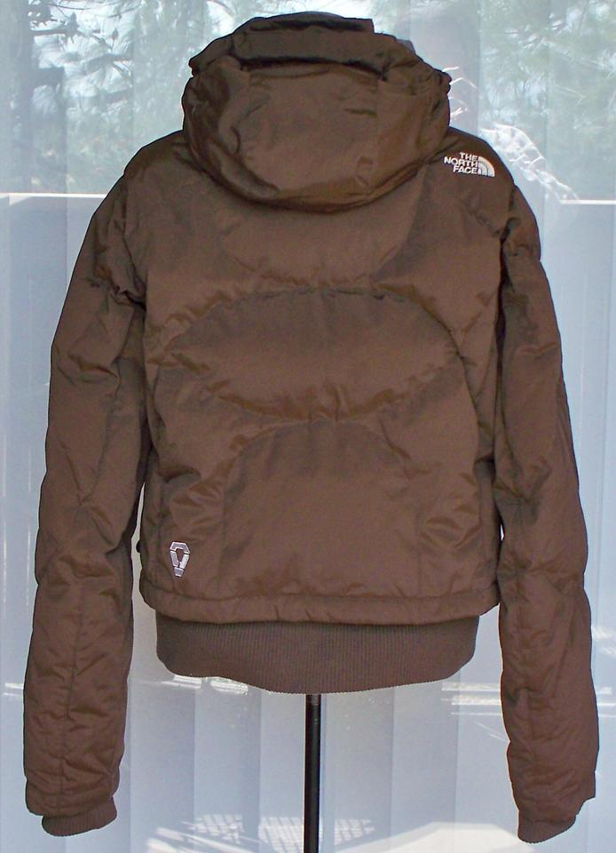 3de3df0cb The North Face Brown Prodigy 600 Goose Down Hooded Jacket Coat Size 8 (M)