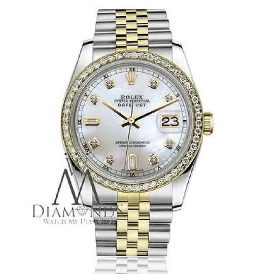 Rolex Rolex 31mm Datejust White Mop Mother Of Pearl Dial Diamond Accent