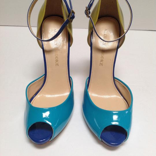 Audrey Brooke Turquoise/Olive Green Pumps