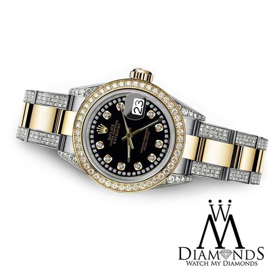 Rolex Women's 31mm Oyster Perpetual Datejust Black String Diamond Dial