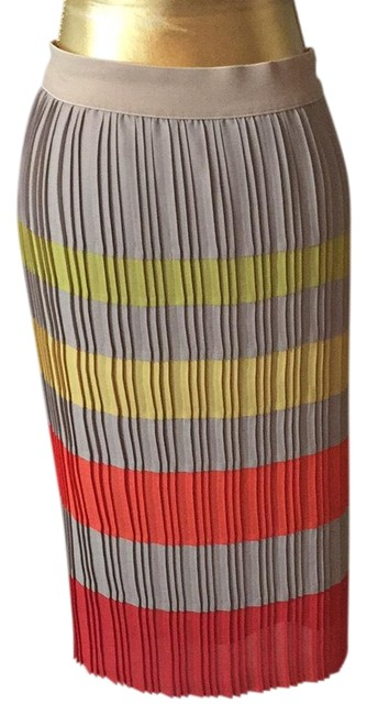 Item - Multi Colored Pleated Skirt Size 00 (XXS, 24)