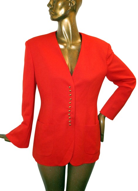 Preload https://img-static.tradesy.com/item/23212593/moschino-red-couture-wool-gold-button-jacket-blazer-size-12-l-0-1-650-650.jpg