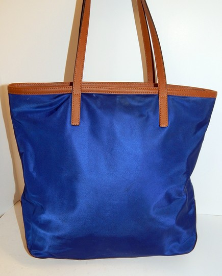 Michael Kors Kempton Nylon Leather Tote in Blue