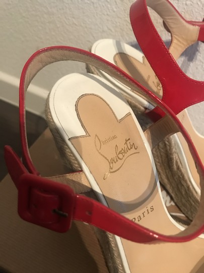 Christian Louboutin Summer Casual red,blue,white Wedges