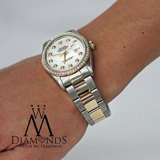 Rolex 16233 Datejust 36mm Diamond Bezel Mother Of Pearl Diamond Dial