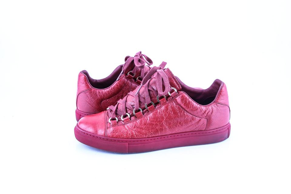 68935e8c2cf6 Balenciaga Red High Sneakers Low Boots Booties Size US 7.5 Regular ...