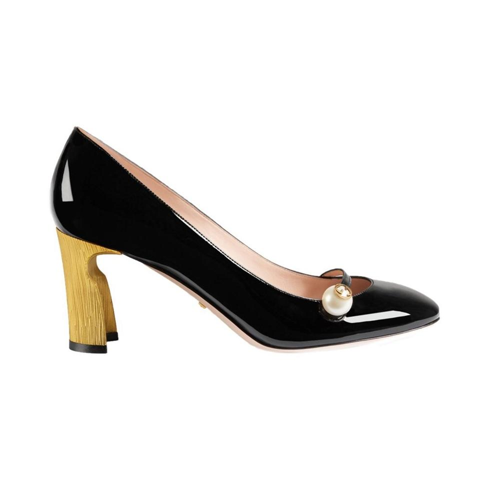 5604746e5ff1 Gucci Arielle Patent Leather Mid Heel Pumps Size EU 40 (Approx. US ...