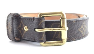 Louis Vuitton gold buckle leather Belt size 90/36 Monogram