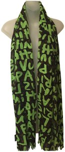 Louis Vuitton Stephen sprouse green graffiti scarf