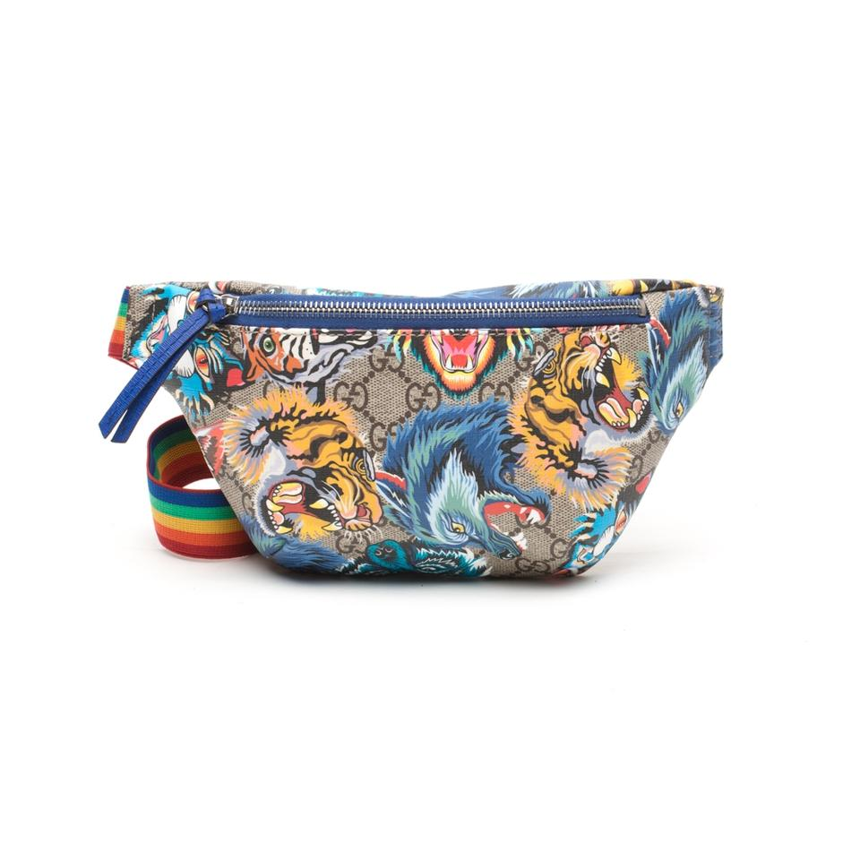 ca3f19154 Gucci Animal Faces Belt Multicolour Canvas Cross Body Bag - Tradesy