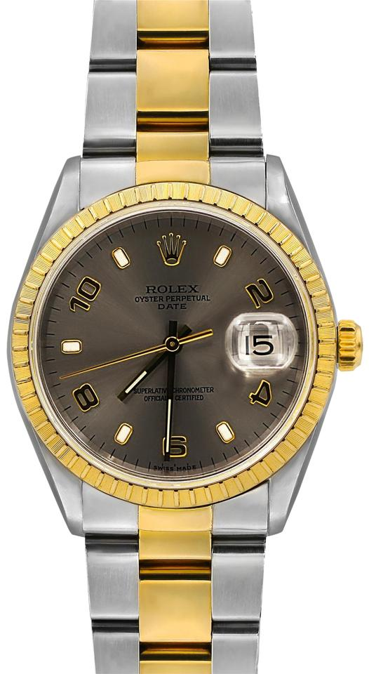 7e46dfa88464 Rolex Yellow Gold and Stainless Steel Oyster Perpetual Date 34 Mm ...