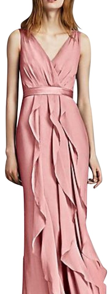 232ac001b4dc White by Vera Wang Ballet Pink V-neck Wrapped Bodice with Satin Belt ...