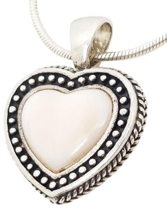 Bali Bali 925 Sterling Silver Antique Light Pink Mother of Pearl Pendant