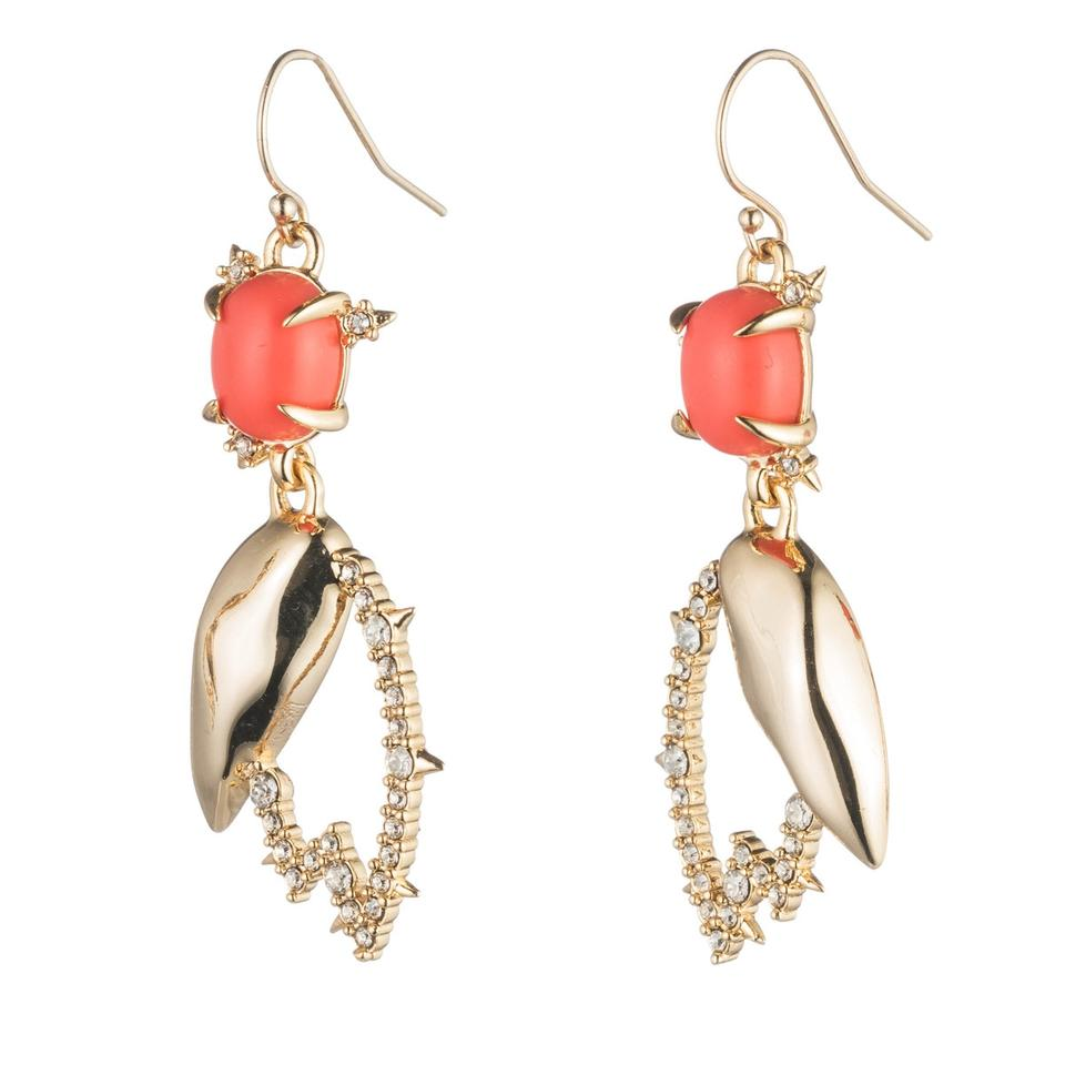 dc98900a8 Alexis Bittar Gold New Crystal Encrusted Abstract Tulip Drop Wire Earrings