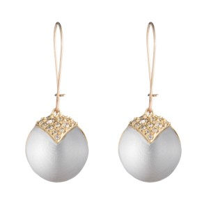Alexis Bittar New Alexis Bittar Origami Inlay Dangling Grey Sphere Drop Earring