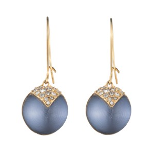 Alexis Bittar New Alexis Bittar Origami Inlay Dangling Lake Blue Sphere Drop Earring