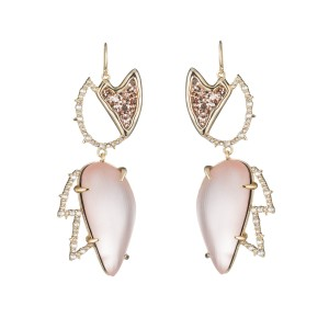 Alexis Bittar New Alexis Bittar Abstract Tulip Glitter Crystals Wire Earring