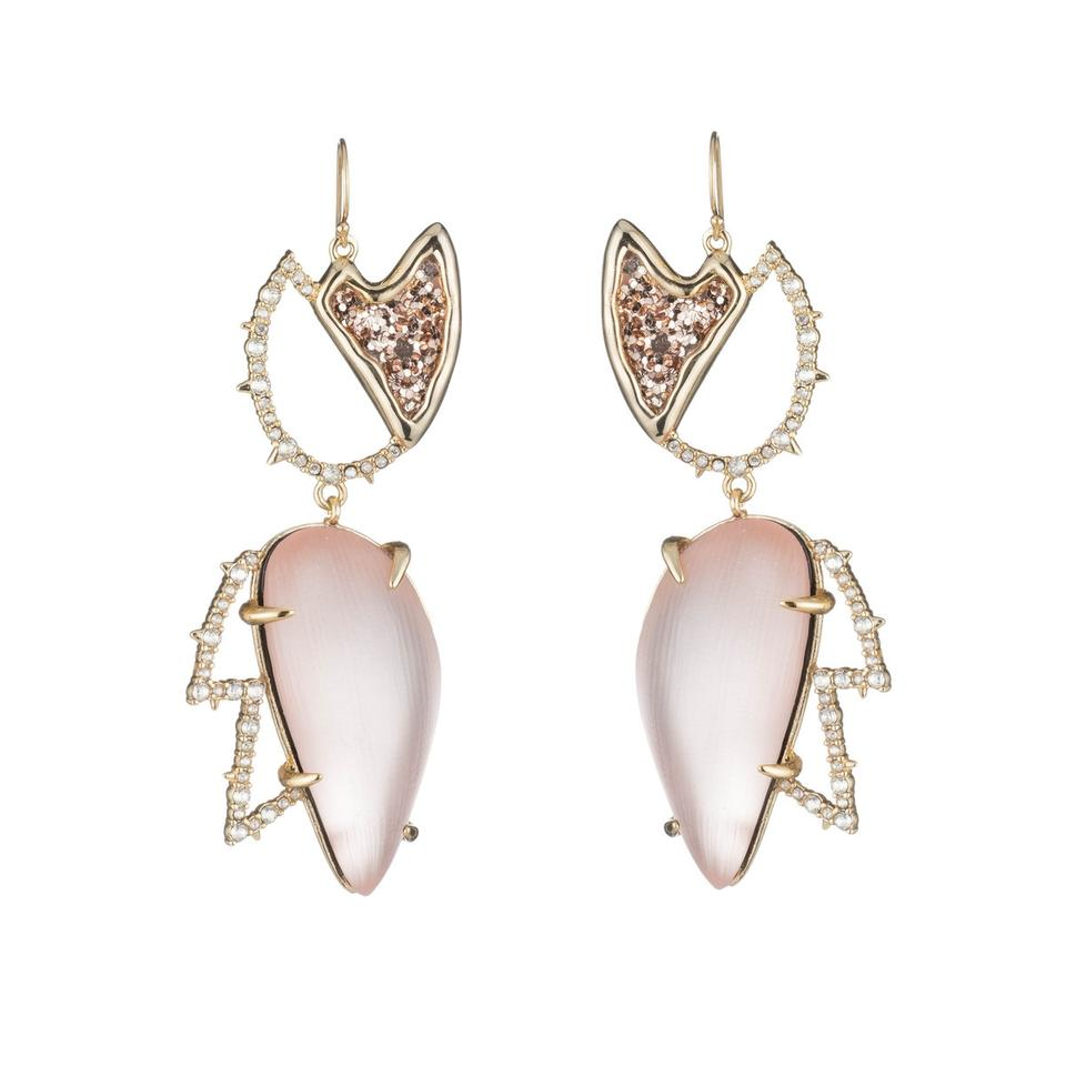 Alexis Bittar Abstract Tulip Glitter Crystals Wire Earring