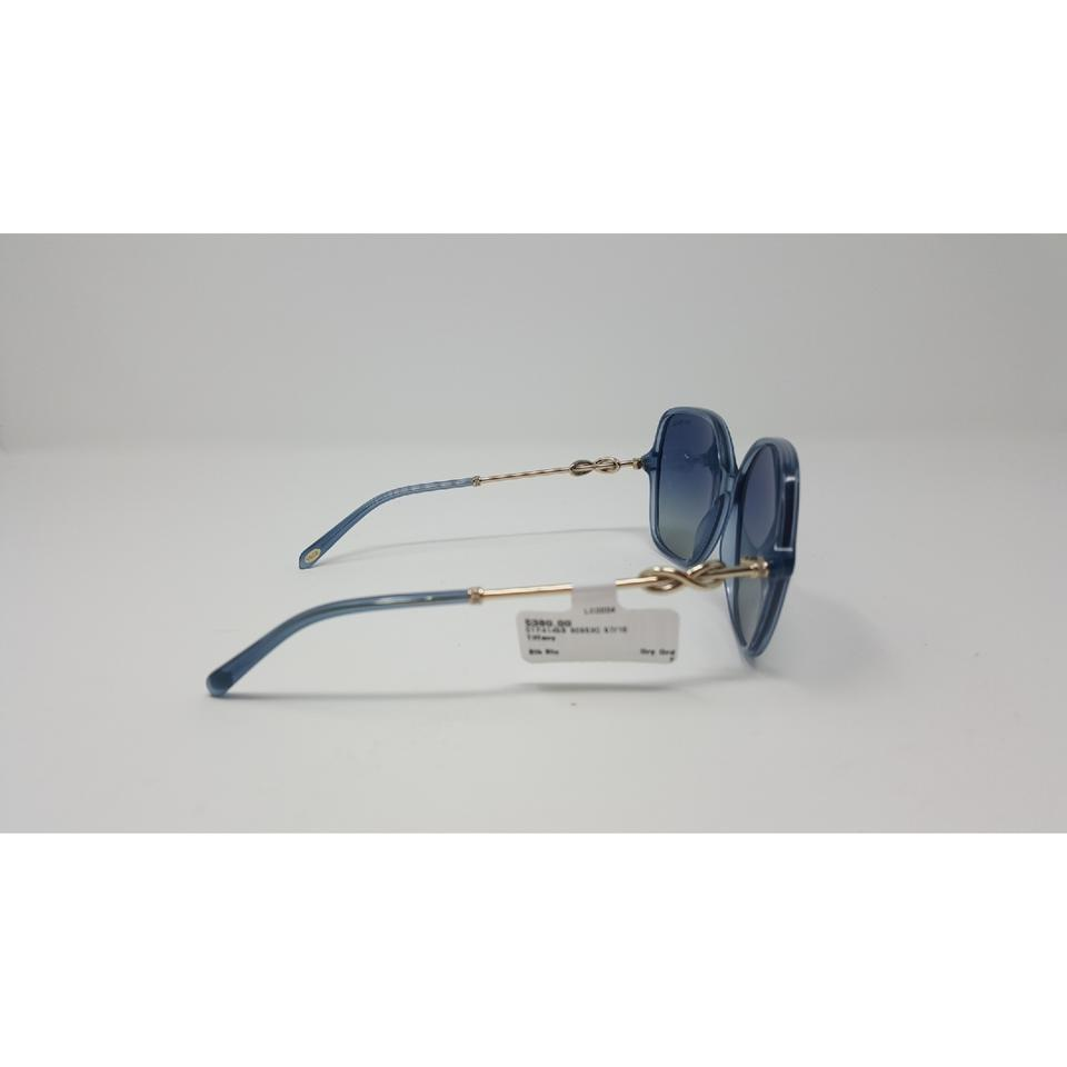 1f4ead507ba Tiffany   Co. Blue Grey Infinity Otf 4145b Sunglasses - Tradesy