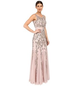 Adrianna Papell Beaded Embellished Mesh Dress