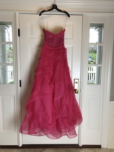 Reem Acra Peony Silk/Lace / Organza Fantasy Gown In Pink Formal Wedding Dress Size 10 (M)
