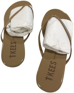 3d7ec31b63dd TKEES Patent Cocobutter nude Sandals