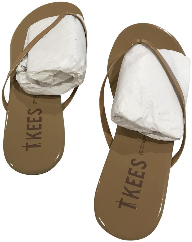 34bf83b06e0 TKEES Patent Cocobutter Nude Glosses Flip Flop Sandals. Size  US 10 ...