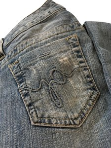 Guess Distressed Ripped Straight Leg Jeans-Distressed