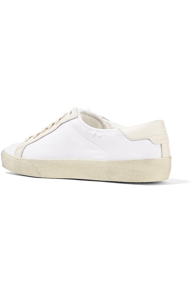 Laurent Court Sneakers Saint Sneakers Canvas white Off Classic FnqqOdTS