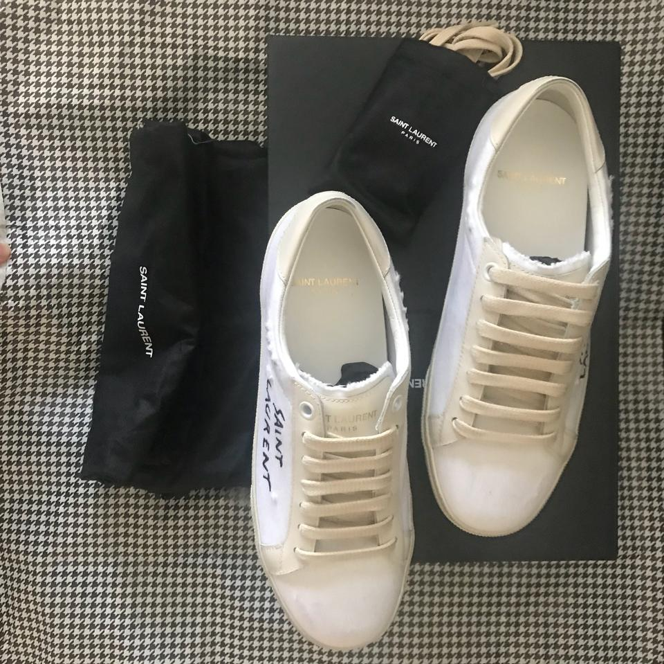 white Classic Sneakers Sneakers Off Laurent Saint Court Canvas HxwXUEYSq