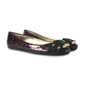 Jimmy Choo Patent Leather Round Toe Ballet Purple Flats
