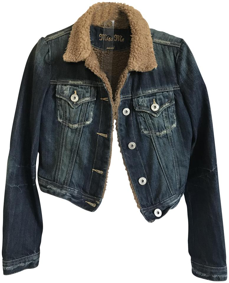05f6fcbefad1 Miss Me Lined Western Distressed Womens Jean Jacket Image 0 ...