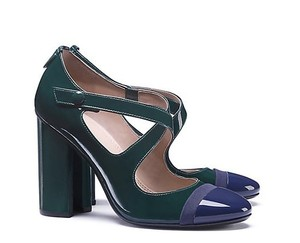 Tory Burch Crisscross Strap Green/Black JITNEY GREEN/BLACK Pumps