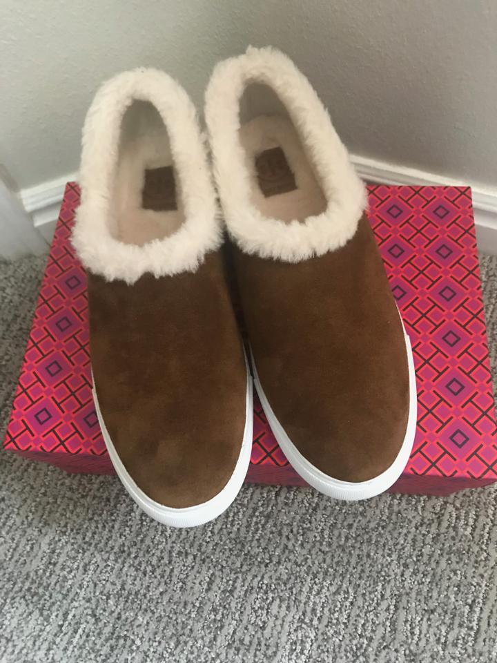 3046caa364bdb8 Tory Burch Suede Sneaker Miller Genuine Shearling Lined FESTIVAL BROWN  Athletic Image 7. 12345678