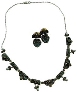 Ayala Bar Vintage AYALA BAR artisan necklace and earrings Gray and black stones
