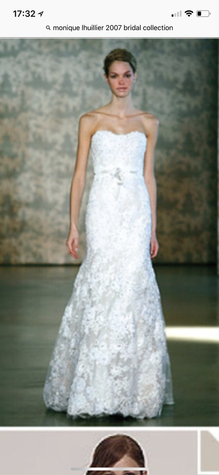 Monique Lhuillier Cream/7 Layers Of Lace Mermaid Style. Still Has Ml ...