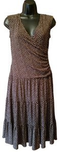 Brown Maxi Dress by Suzi Chin for Maggy Boutique Polka Dot Sundress
