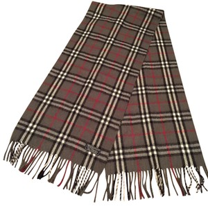 Burberry London Plaid blue, gray, red scarf