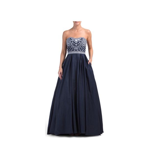 Preload https://img-static.tradesy.com/item/23215054/betsy-and-adam-blue-white-chambray-gown-long-formal-dress-size-2-xs-0-0-650-650.jpg