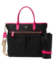 Michael Kors ultra pink black Diaper Bag