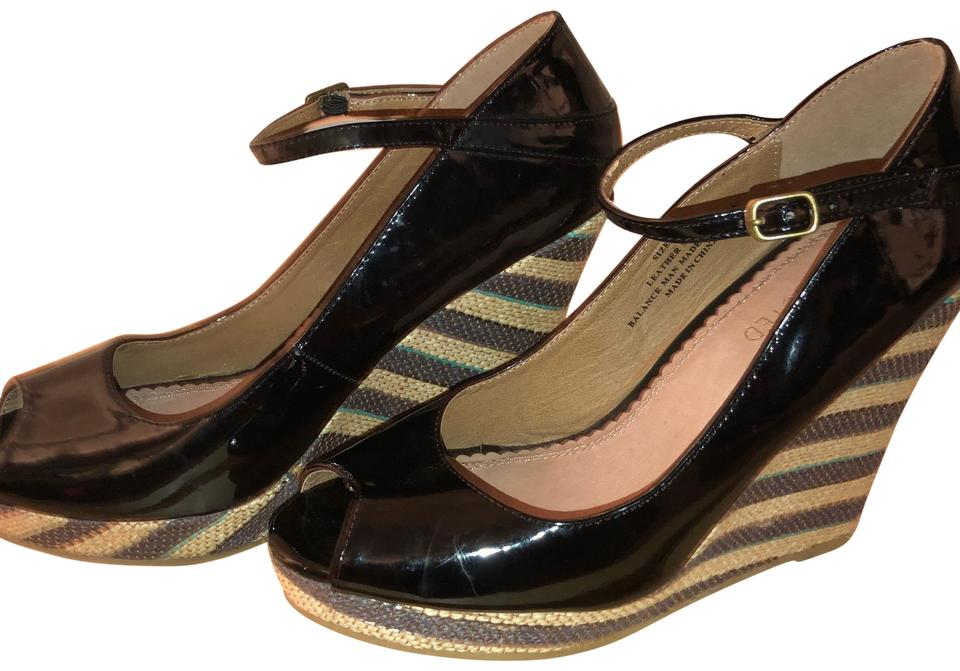 36a3151abb2 Restricted Black and Natural Espadrilles Wedges. Size  US 9 Regular (M ...