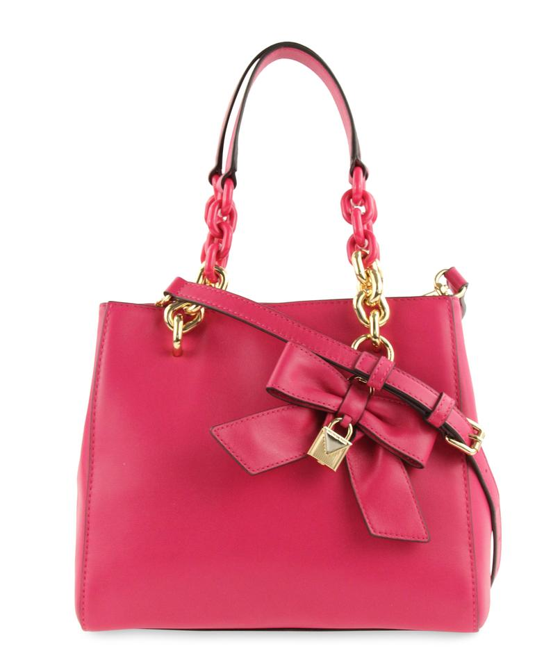 8cd4b5fe3cb3 MICHAEL Michael Kors Cynthia Small Ns Convertible Ultra Pink Leather Satchel