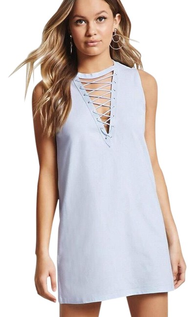Preload https://img-static.tradesy.com/item/23215366/forever-21-lace-up-short-casual-dress-size-6-s-0-1-650-650.jpg