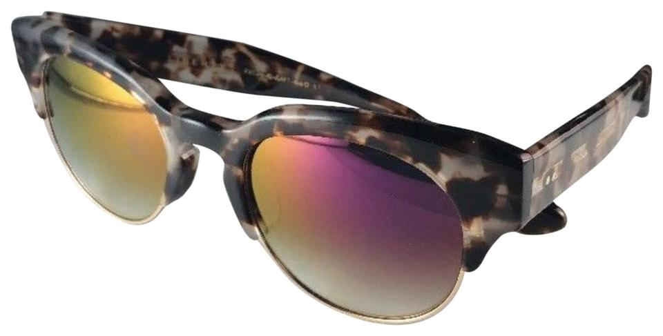 Dita Liberty Sunglasses 22026-C-CMT-GLD Tortoise Gold with Violet Mirror