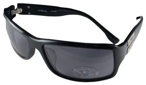 S.T. Dupont New S.T. DUPONT Sunglasses DP-7012 Black & Silver w/ Polarized Grey