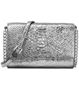 Michael Kors silver pewter Clutch
